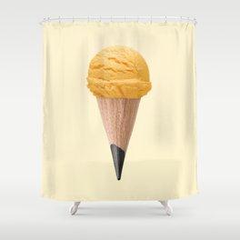 ICE CREAM PENCIL Shower Curtain
