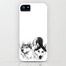 A Pair of Siberian Huskies iPhone Case