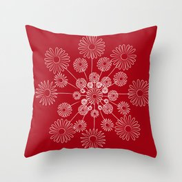 Floral snow Throw Pillow