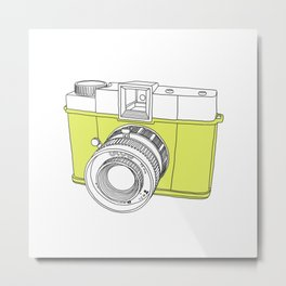 Diana F+ Glow - Plastic Analogue Camera Metal Print