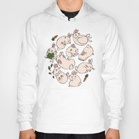 rabbits Hoodies featuring Rabbits by Marie-Ève Cardinal
