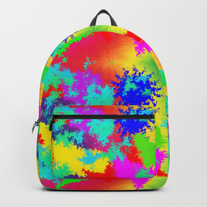 Colourful Random Trippy Pattern Backpack