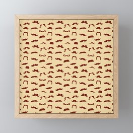 Movember Moustache Pattern  Framed Mini Art Print