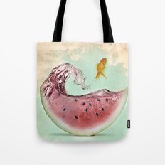 watermelon goldfish 02 Tote Bag