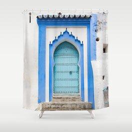 Doors - Chefchaouen, Morocco Shower Curtain