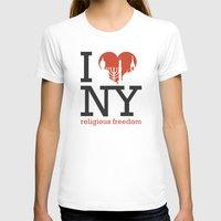 religious T-shirts featuring Luv New York Religious Freedom by The Mindful