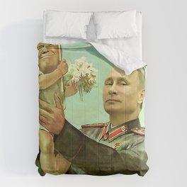 Baby Trump And Vladimir Putin Meme Comforters