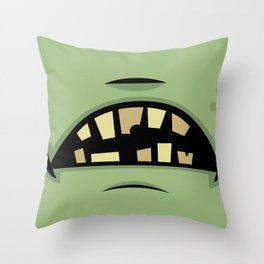 Zombie Frankenstein Monster Mouth Throw Pillow