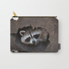 Hiding baby raccoon Carry-All Pouch