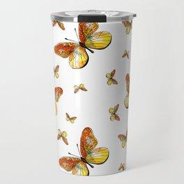 Yellow Butterflies Travel Mug