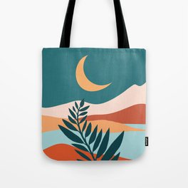 Moonlit Mediterranean / Maximal Mountain Landscape Tote Bag