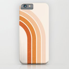 Peachy Rainbow Arch iPhone Case