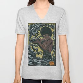 Bad Girls of Motion Pictures #2 - Coffy Unisex V-Neck
