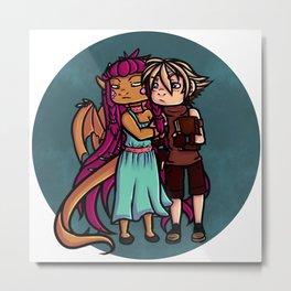 dragon love Metal Print