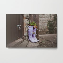 Recycle your boots! Metal Print