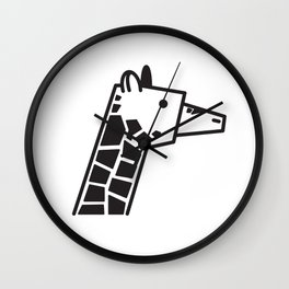 Minimalist Giraffe Wall Clock
