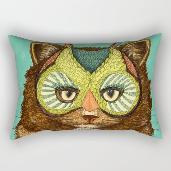 OwlCat Rectangular Pillow