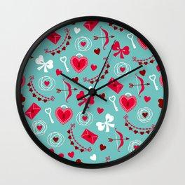 Valentine's Day: Keys to Unlock the Heart Wall Clock