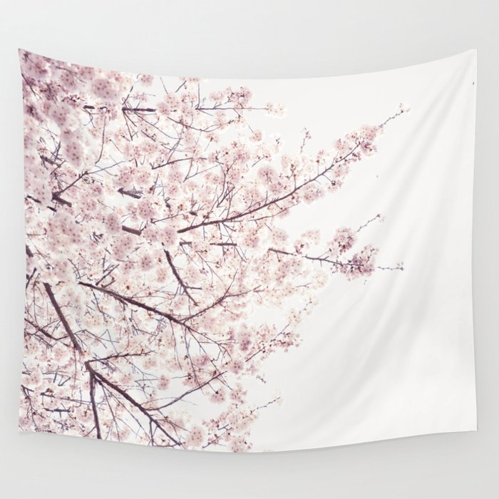 Cherry Blossom Wall Tapestry By Neonwildlife