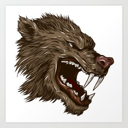 Head of mythical creature Art Print