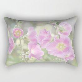 Hollyhocks Rectangular Pillow
