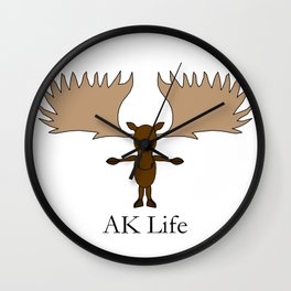 AK Life Moose Wall Clock