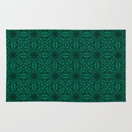 Lush Meadow Black Lace Rug