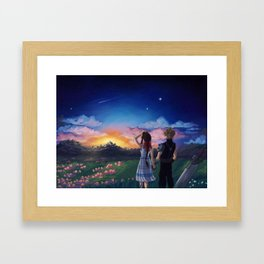 Look how they shine for you Framed Art Print