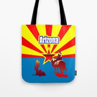 arizona Tote Bags featuring Arizona by Anfelmo