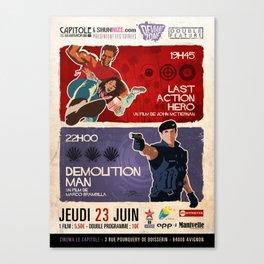 Last Action Hero/Demolition Man Canvas Print