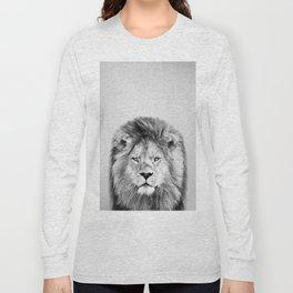 Lion 2 - Black & White Long Sleeve T-shirt