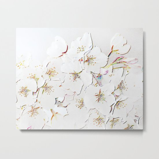 BLOSSOMS IN WHITE Metal Print