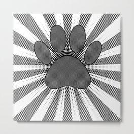 Dog Paw Print Manga Style Metal Print