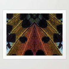 Butterflies Love Geometry Art Print