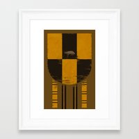 hufflepuff Framed Art Prints featuring hufflepuff crest by nisimalotse