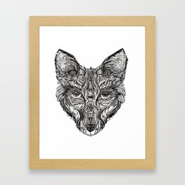 Forest fox Framed Art Print