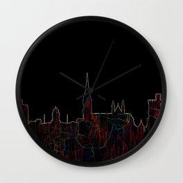 Cork, Ireland Skyline - Live Wire Wall Clock