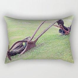 Antique Farm Plows Rectangular Pillow