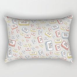 Primary Mixtapes on Neutral Grey Rectangular Pillow