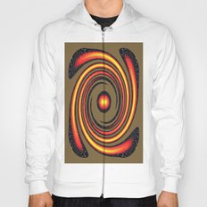 Spiral Fire in abstract Hoody