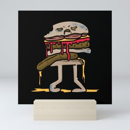 Zombie Burger Shirt Halloween Monster Mini Art Print