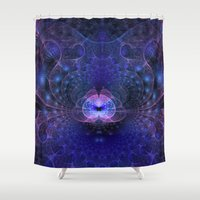 portal Shower Curtains featuring Portal by Woodywood143