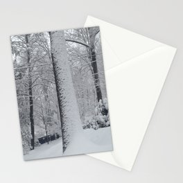 Maplewood - Snow on trees Stationery Cards