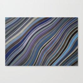 Mild Wavy Lines IV Canvas Print