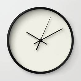 Warm Cream Solid Color Inspired by Behr Snowy Pine PPU10-13 Wall Clock