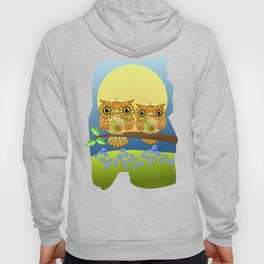 Spring owls on a sunny day Hoody