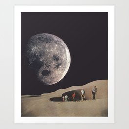 Space Dunes Art Print