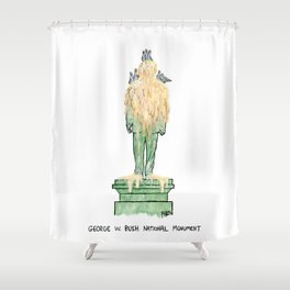 George W. Bush National Monument Shower Curtain