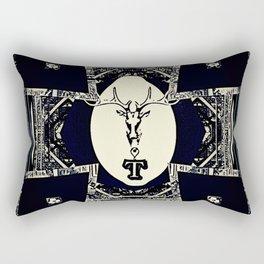 Deer Rose Cross 4 Rectangular Pillow