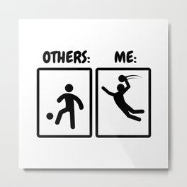 Handball Player Gift Idea Funny Stickmen Metal Print
